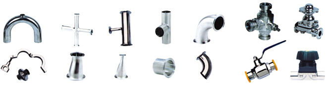 sanitary pipe fittings and valves